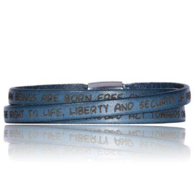 Gilardy Armband Edelstahl Leder (Ausführung: 54cm)