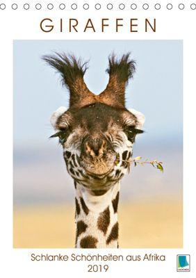 Giraffen: Schlanke Schönheiten aus Afrika (Tischkalender 2019 DIN A5 hoch), CALVENDO