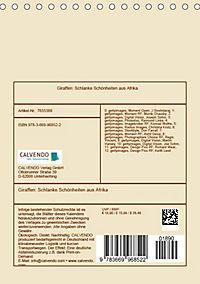 Giraffen: Schlanke Schönheiten aus Afrika (Tischkalender 2019 DIN A5 hoch) - Produktdetailbild 13