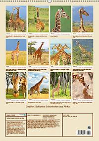 Giraffen: Schlanke Schönheiten aus Afrika (Wandkalender 2019 DIN A2 hoch) - Produktdetailbild 13