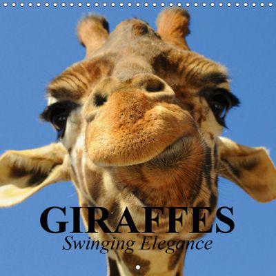 Giraffes - Swinging Elegance (Wall Calendar 2019 300 × 300 mm Square), Elisabeth Stanzer