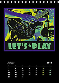 Gitarren Pop Art (Tischkalender 2018 DIN A5 hoch) - Produktdetailbild 1