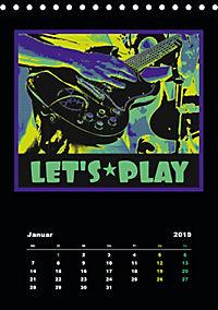 Gitarren Pop Art (Tischkalender 2019 DIN A5 hoch) - Produktdetailbild 1