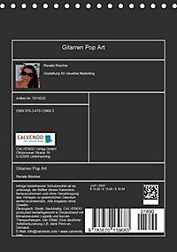 Gitarren Pop Art (Tischkalender 2019 DIN A5 hoch) - Produktdetailbild 13