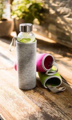 Glasflasche mit 3 Schutzhüllen 550ml, 4tlg.