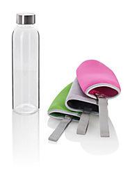 Glasflasche mit 3 Schutzhüllen 550ml, 4tlg. - Produktdetailbild 1