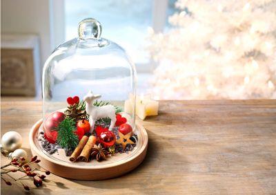 Glasglocken-Dekoset Jahreslauf