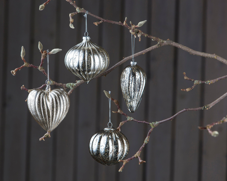 Bauernsilber Christbaumkugeln.Glaskugeln Bauernsilber 4er Set Jetzt Bei Weltbild De Bestellen