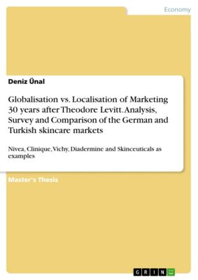 Globalisation vs. Localisation of Marketing 30 years after Theodore Levitt. Analysis, Survey and Comparison of the German and Turkish skincare markets, Deniz Ünal