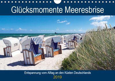 Glücksmomente Meeresbrise (Wandkalender 2019 DIN A4 quer), Andrea Dreegmeyer