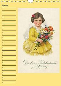 Glückwünsche von anno dazumal (Wandkalender immerwährend DIN A4 hoch) - Produktdetailbild 1