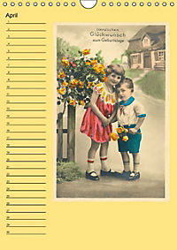 Glückwünsche von anno dazumal (Wandkalender immerwährend DIN A4 hoch) - Produktdetailbild 4