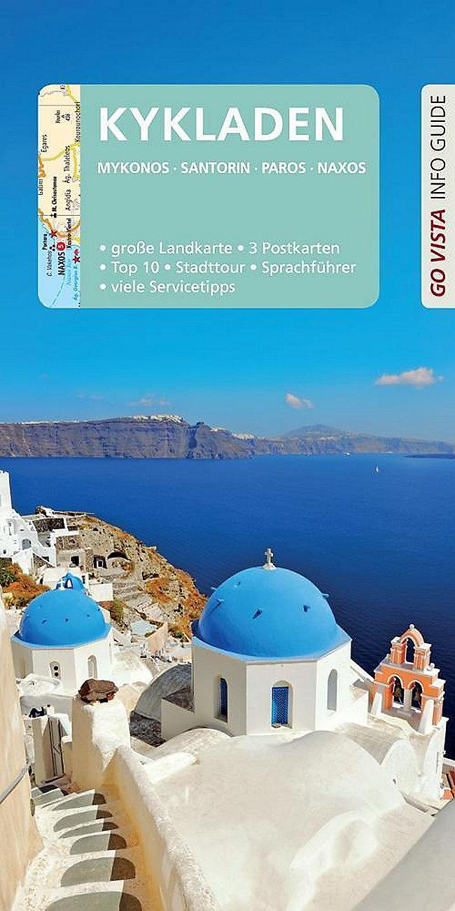 Kykladen Karte.Go Vista Info Guide Reiseführer Kykladen M 1 Karte Jetzt Kaufen