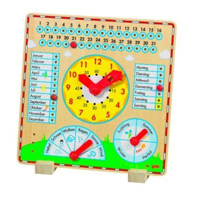 Wetter Monate u Uhr Holz Jahresuhr Lernuhr Kinderuhr für Kinder Jahreszeiten