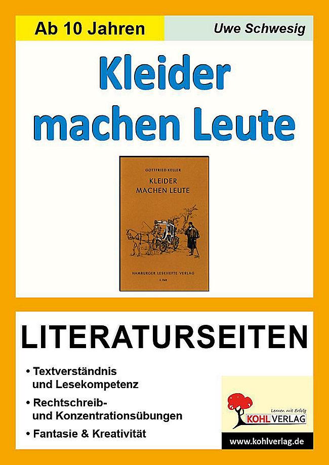 Gottfried Keller Kleider Machen Leute Literaturseiten Buch