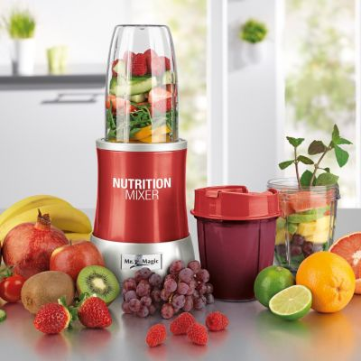 GOURMETmaxx Nutrition Mixer, 11tlg. rot