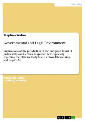 Governmental and Legal Environment, Stephan Weber