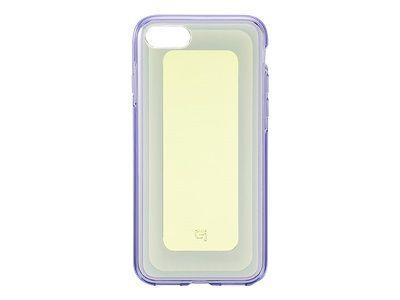 GRAMAS Gems Hybrid Huelle iPhone 8+/7+ Schutzhuelle iPH 8/7 Plus Polycarbonat Elastomer Kunst. Falltest MIL-STD-810G YLVT gelb lila