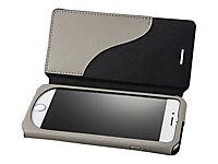 GRAMAS Sac Kunstledertasche iPhone 8/7 Umhaengetasche mit Flipcase iPH 8/7 Plus Kunstleder Magnetverschluss Kartenhalter GY grau - Produktdetailbild 2