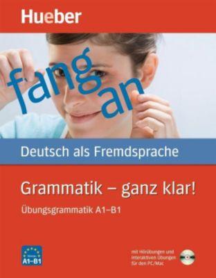 Grammatik - ganz klar!, m. CD-ROM, Barbara Gottstein-Schramm, Susanne Kalender, Franz Specht