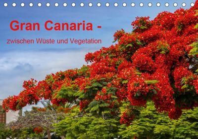 Gran Canaria - zwischen Wüste und Vegetation (Tischkalender 2019 DIN A5 quer), Brigitte Jaritz