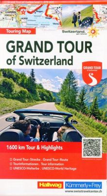 Grand Tour of Switzerland, Touring Map