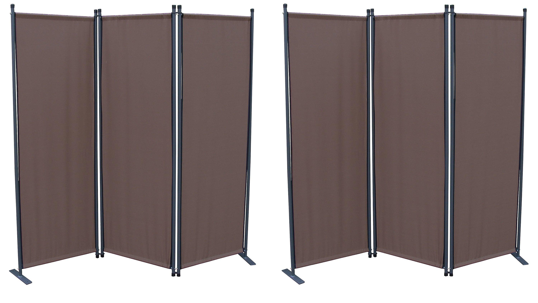Grasekamp 2 Stück Paravent 3tlg Raumteiler Trennwand Sichtschutz