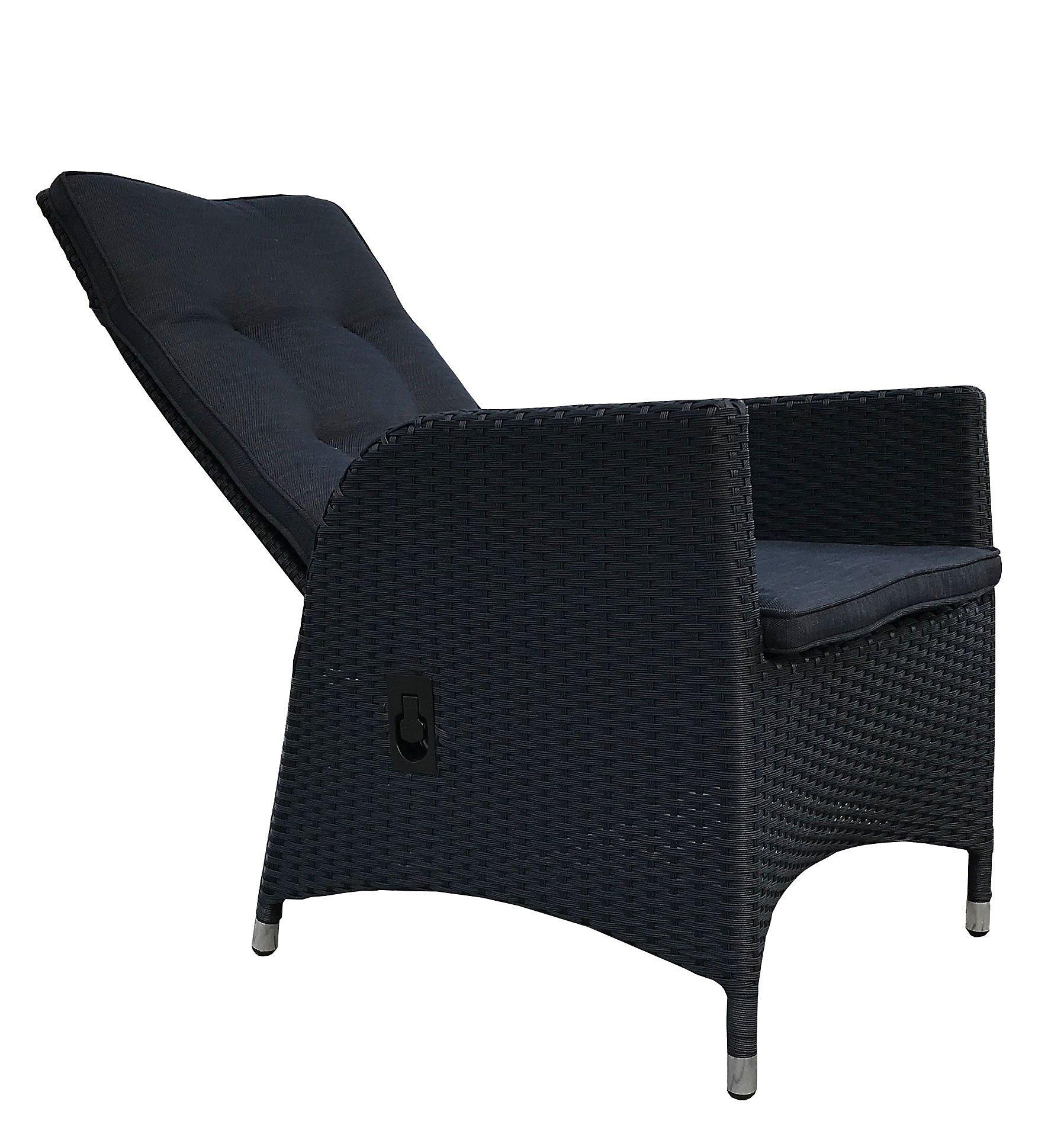 Grasekamp 2 Stück Polyrattan Sessel Mit Auflagen Gasdruck