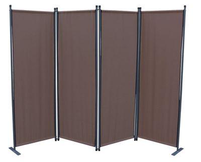 grasekamp garten paravent 4 teilig farbe taupe. Black Bedroom Furniture Sets. Home Design Ideas
