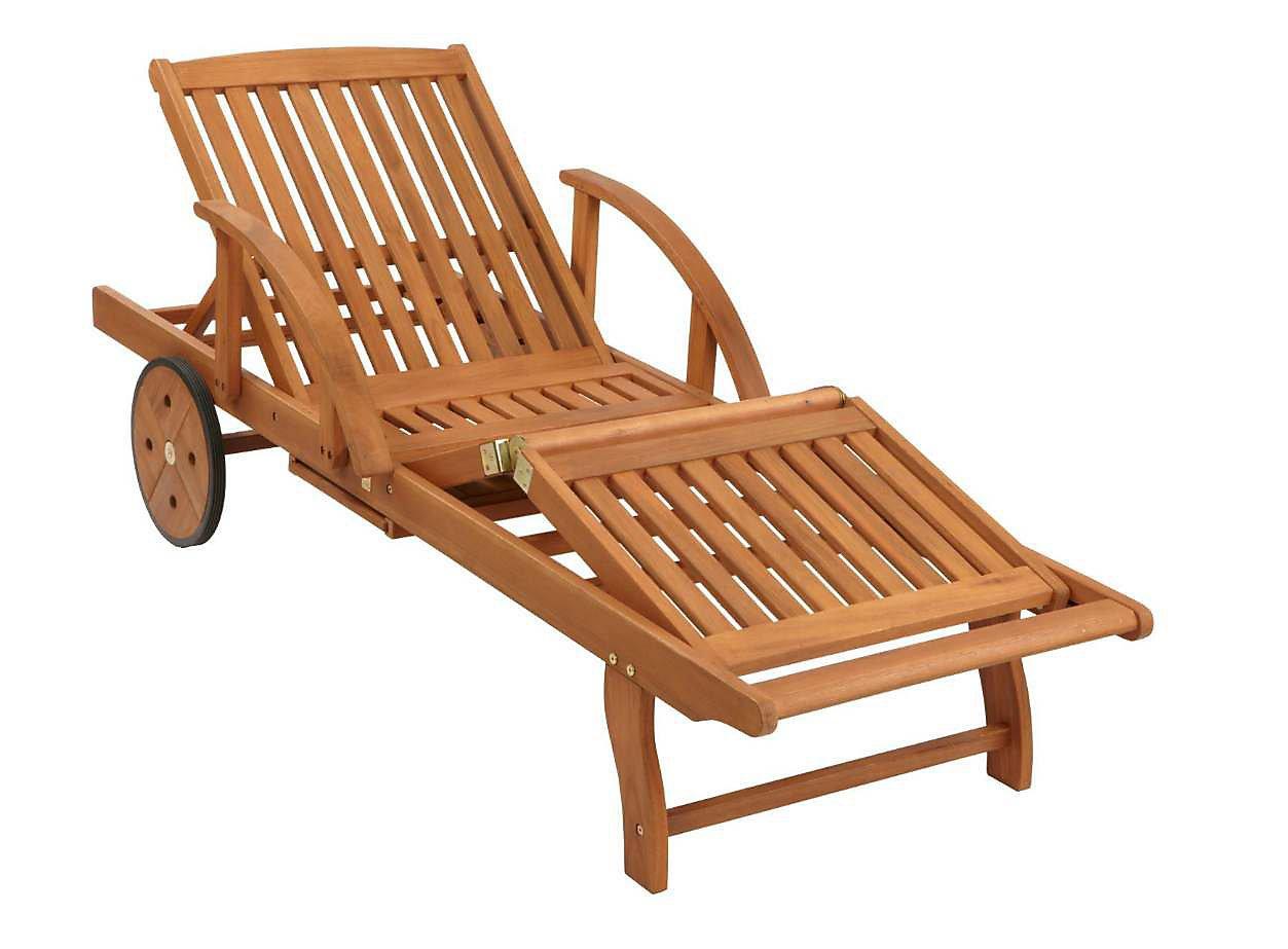 Grasekamp Gartenliege Mit Kissen Sand Holz Liege Sonnenliege
