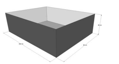 Grasekamp Gartenteich Hochteich Teich Einsatz  180x100 cm