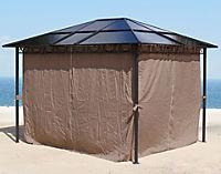 Grasekamp Hardtop Pavillon 3x3m mit Seitenteile  Doppelstegplatten Polycarbonat - Produktdetailbild 2