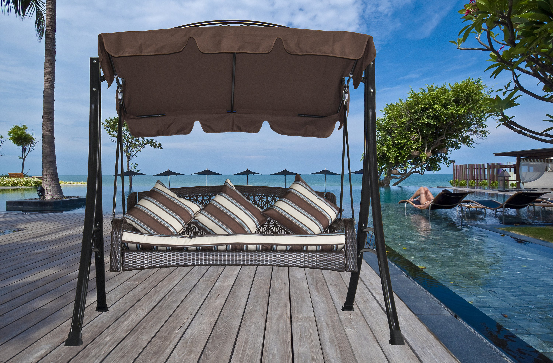 Grasekamp Hollywoodschaukel Portofino Polyrattan Relax Liege
