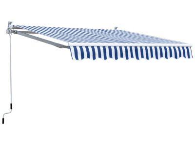 Grasekamp Markise, 250 x 150 cm (Farbe: blau weiß)