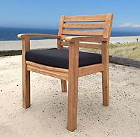 Grasekamp Sitzkissen Anthrazit zu Sessel und Stuhl - Produktdetailbild 3