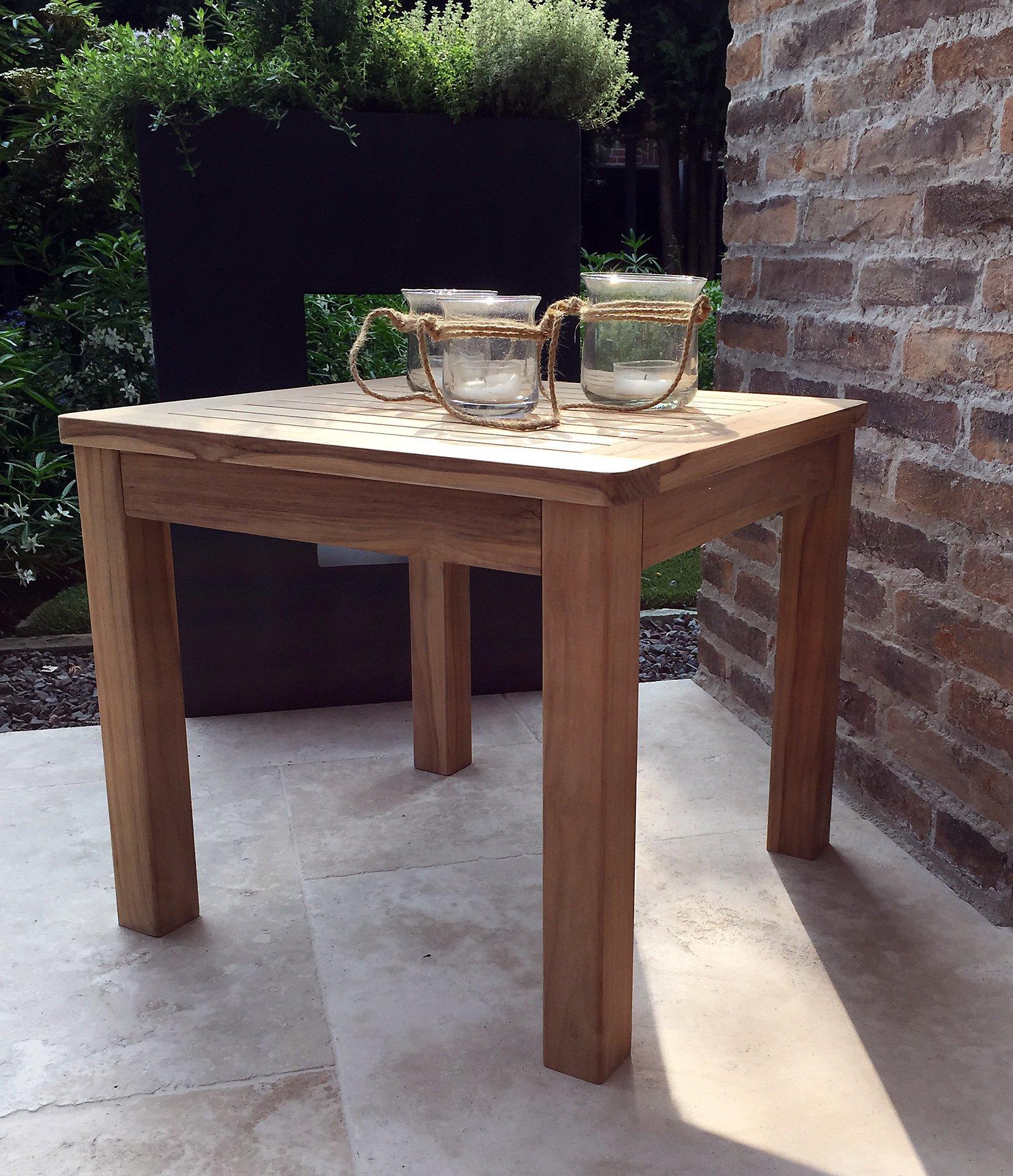 Grasekamp Teak Beistelltisch 50x50 Cm Kaffeetisch Gartenmöbel Möbel