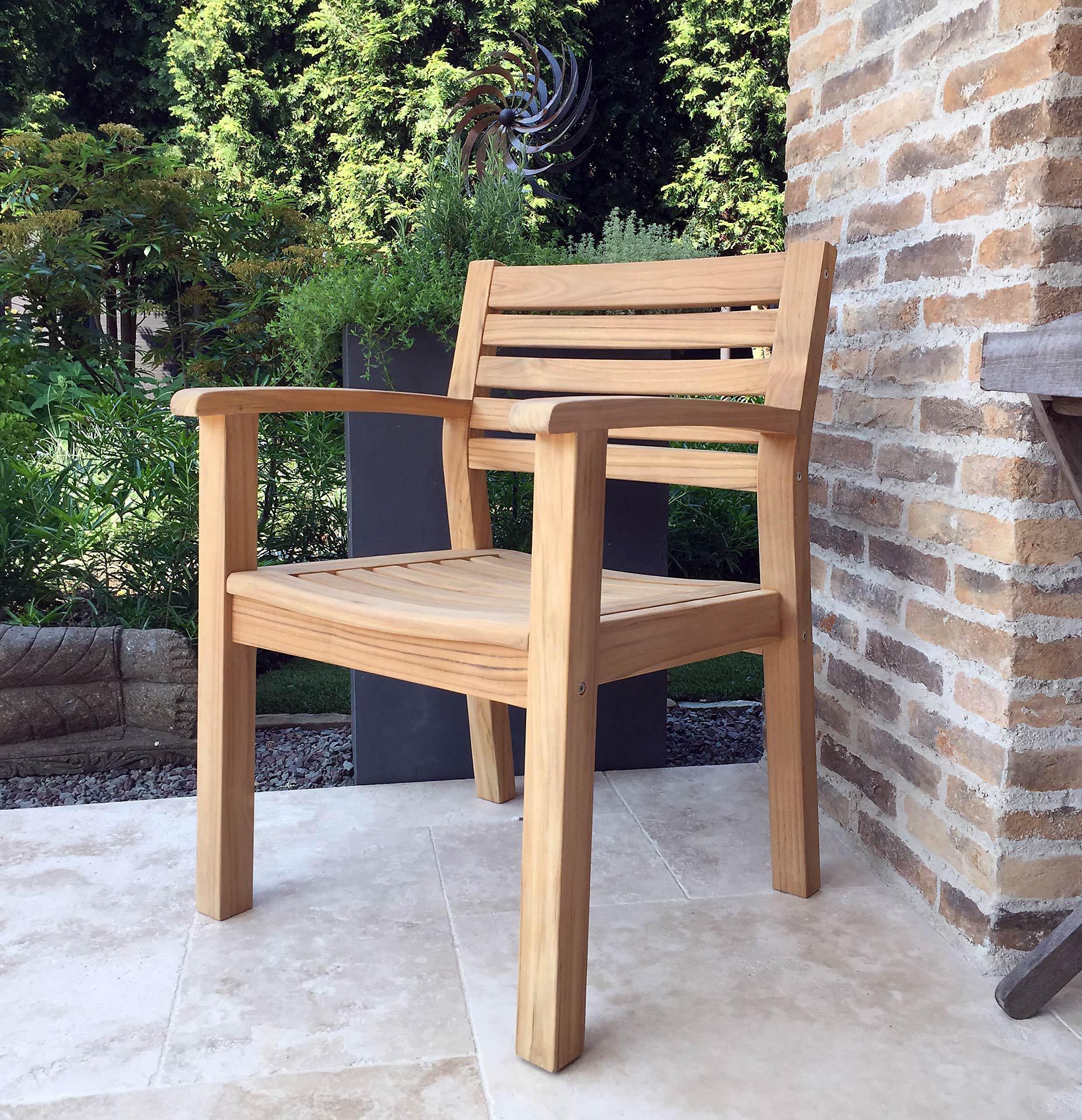 Grasekamp Teak Gartenstuhl Sessel Stuhl Teakholz Gartenmöbel