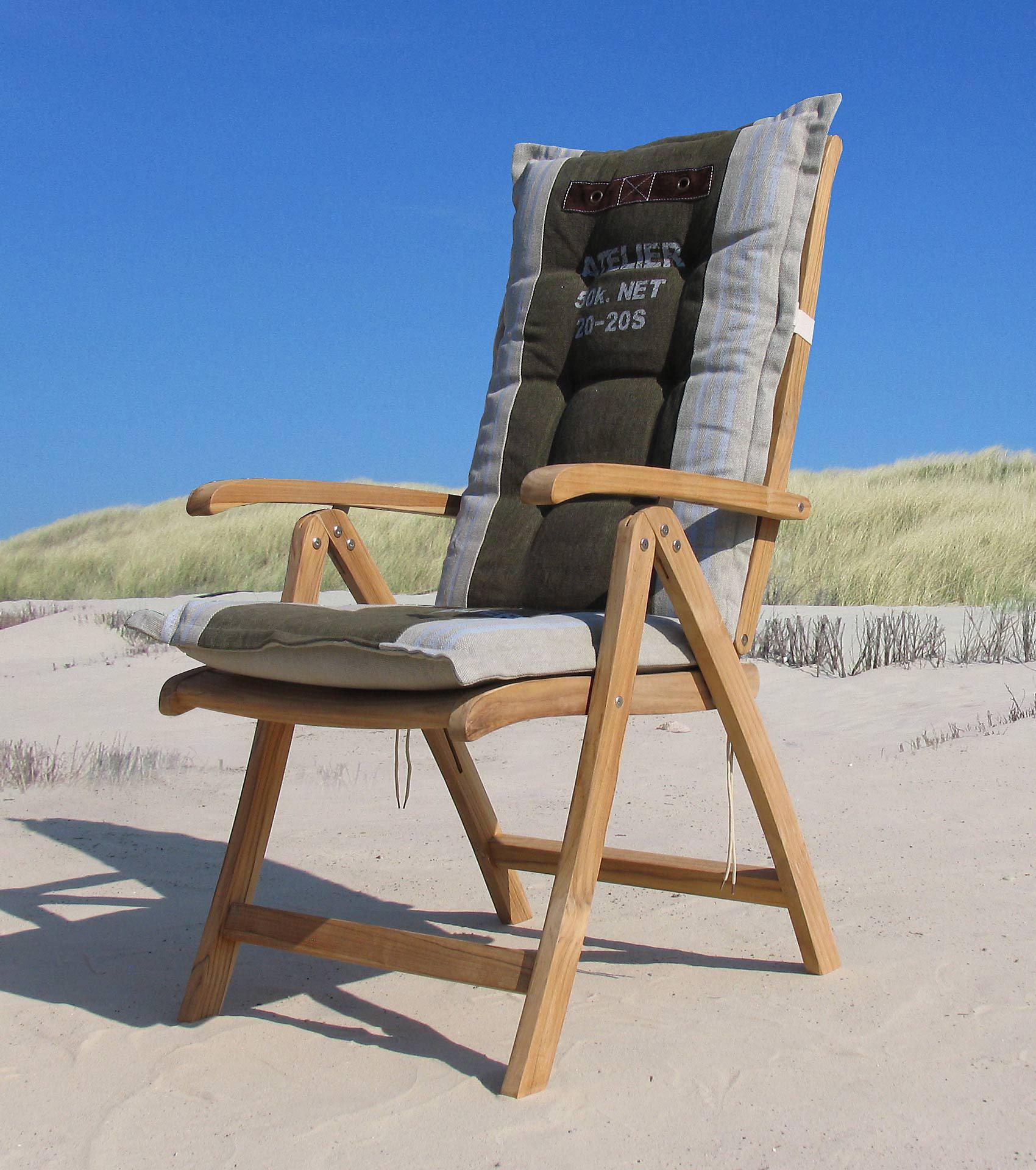 Grasekamp Teak Sessel Verstellbar Gartenstühle Klappstuhl Teak Holz