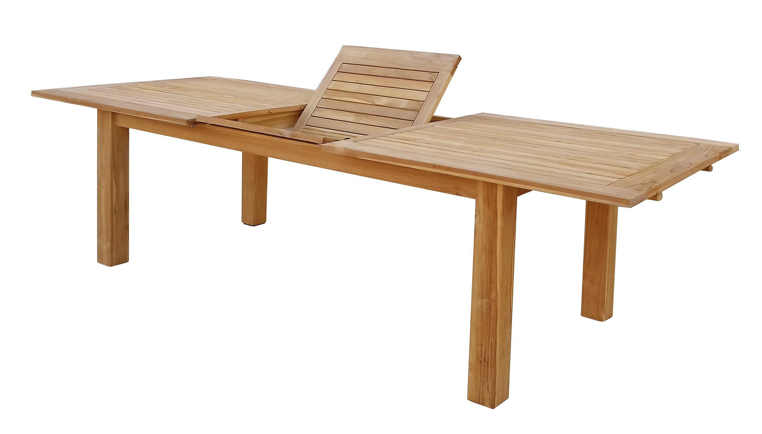 Grasekamp Teak Tisch 200 260x100 Cm Ausziehbar Esstisch Gartenmobel
