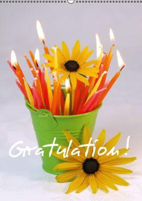 Gratulation ! (Wandkalender immerwährend DIN A2 hoch), Gisela Kruse