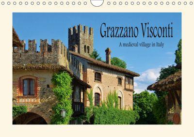 Grazzano Visconti (Wall Calendar 2019 DIN A4 Landscape), LianeM
