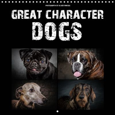 Great character dogs (Wall Calendar 2019 300 × 300 mm Square), Oliver Pinkoss