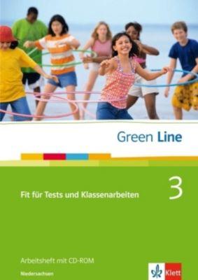 Green Line, Neue Ausgabe für Gymnasien: Bd.3 Fit für Tests und Klassenarbeiten, Ausgabe Niedersachsen, Arbeitsheft m. CD-ROM
