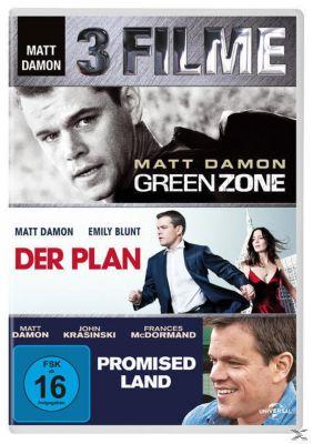 Green Zone, Der Plan, Promised Land DVD-Box, Brian Helgeland, Rajiv Chandrasekaran, George Nolfi, Philip K. Dick, John Krasinski, Matt Damon, Dave Eggers