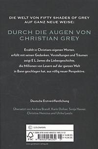 grey fifty shades of grey von christian selbst erz hlt buch. Black Bedroom Furniture Sets. Home Design Ideas