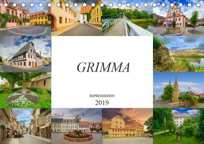 Grimma Impressionen (Tischkalender 2019 DIN A5 quer), Dirk Meutzner