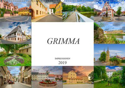Grimma Impressionen (Wandkalender 2019 DIN A2 quer), Dirk Meutzner