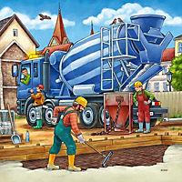 Grosse Baufahrzeuge Puzzle 3 x 49 Teile - Produktdetailbild 1