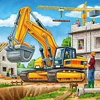 Grosse Baufahrzeuge Puzzle 3 x 49 Teile - Produktdetailbild 3
