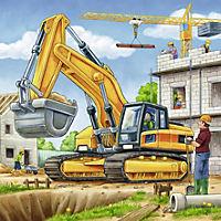Grosse Baufahrzeuge Puzzle 3 x 49 Teile - Produktdetailbild 4